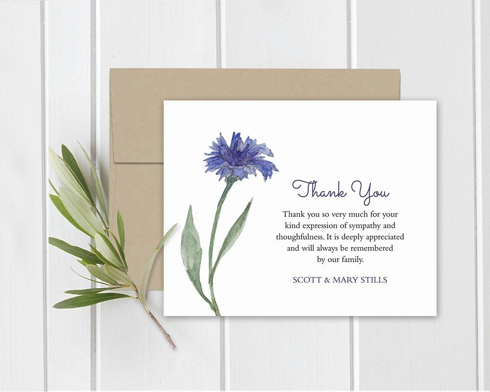 Funeral Acknowledgement Card Template Sympathy Thank You Note Etsy Sympathy Thank You Cards Thank You Card Template Sympathy Thank You Notes