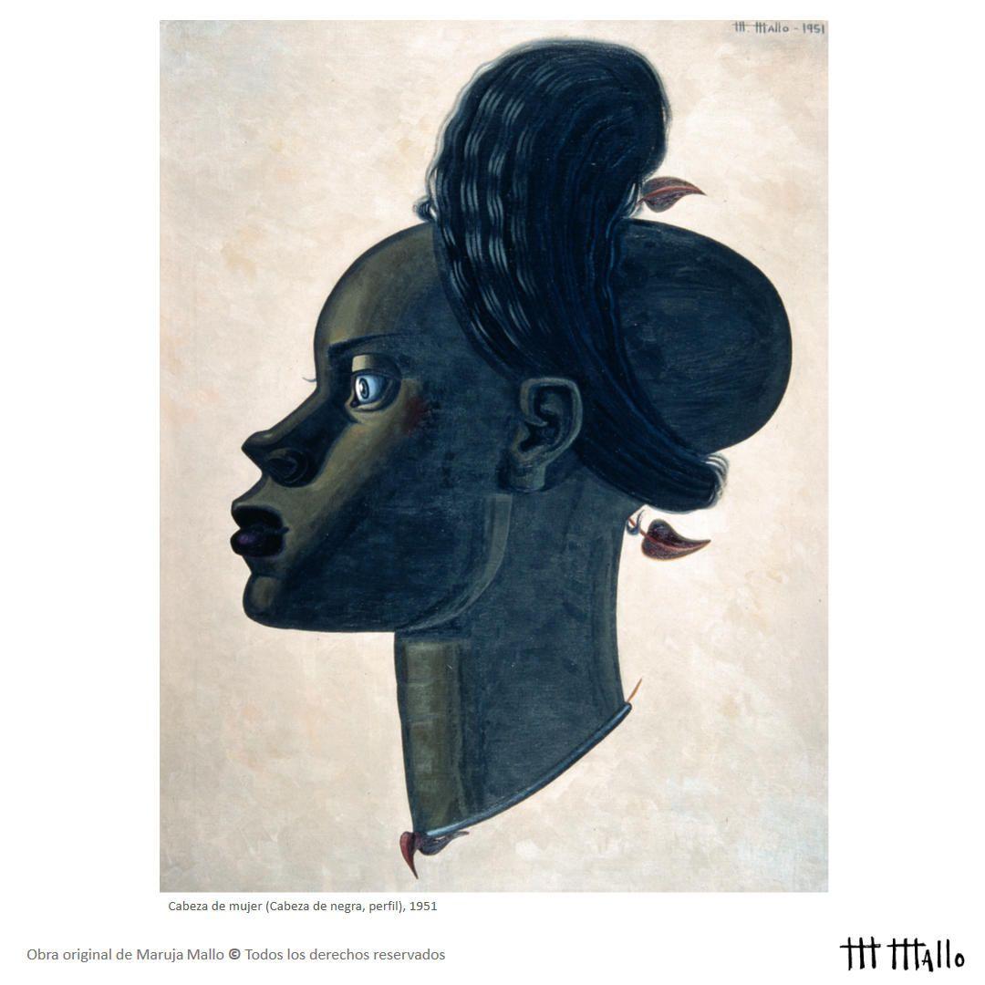 Cabeza de mujer (Cabeza de negra, perfil), 1951 Óleo sobre lienzo ...