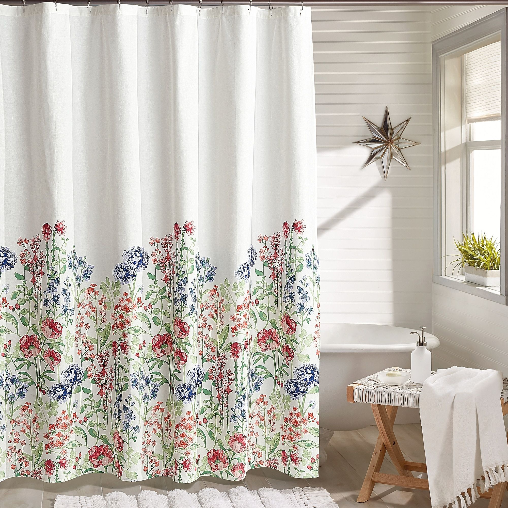 Peri Home Emma Floral Shower Curtain Bed Bath Beyond Floral
