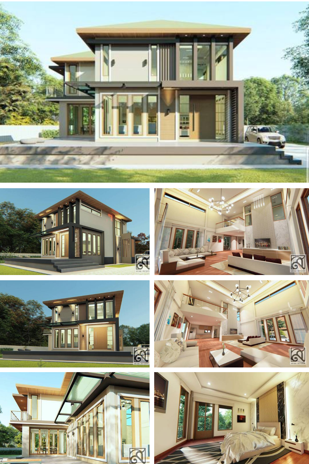 Stunning Double Storey House With Five Bedrooms Double Storey House Luxury House Designs House