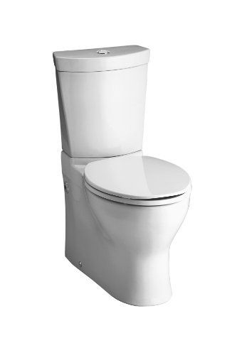 Kohler K 3654 0 Persuade Two Piece Elongated Toilet With Dual Flush Technology Less Seat White By Kohler Http Www Sleek Bathroom Dual Flush Toilet Kohler