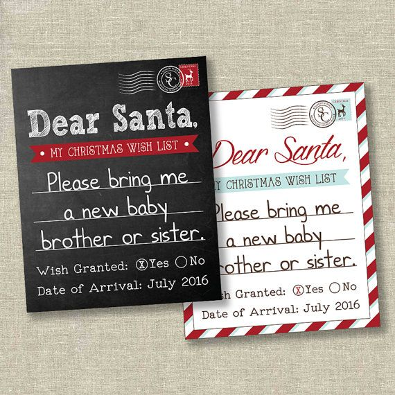 Christmas Pregnancy Announcement Sign Pregnancy Reveal Im – Christmas Baby Pregnancy Announcement