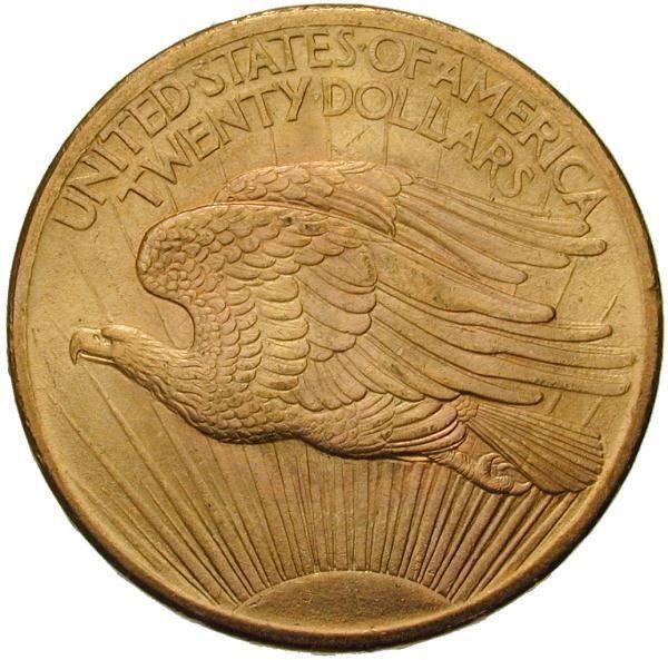 20 Dollar der Vereinigten Staaten von Amerika, geprägt 1908 in Philadelphia