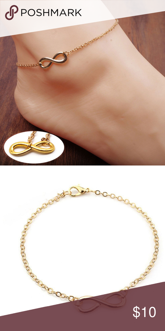 Hand made Gold Plated chain elephant charm anklet ankle bracelet