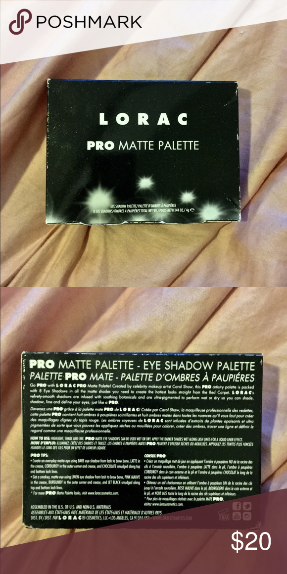 NEW IN BOX Lorac Pro Matte palette 🌟Go PRO with these warm