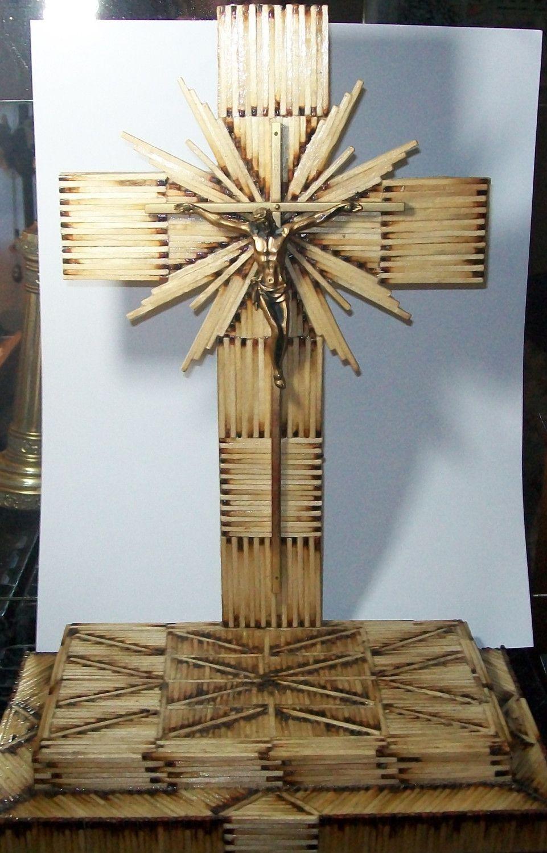 Beautiful cross | Matchstick Crafts | Cross crafts ...