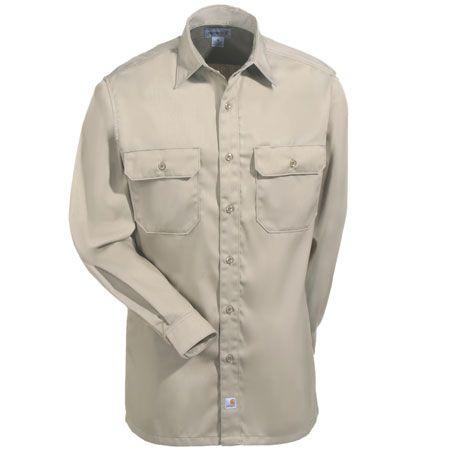 fec68221595 Carhartt Clothing Men s Khaki S224 KHI Cotton Blend Work Shirt ...