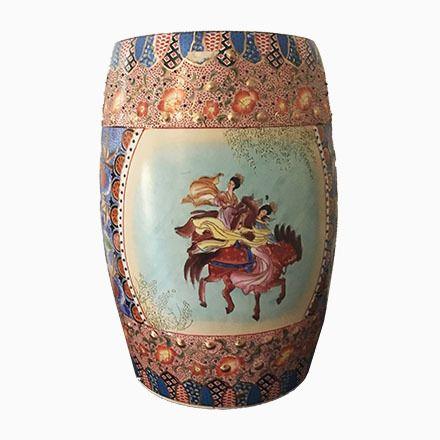 Polychromer Chinesischer Mid-Century Keramik Beistelltisch Jetzt - wohnzimmer italienisches design