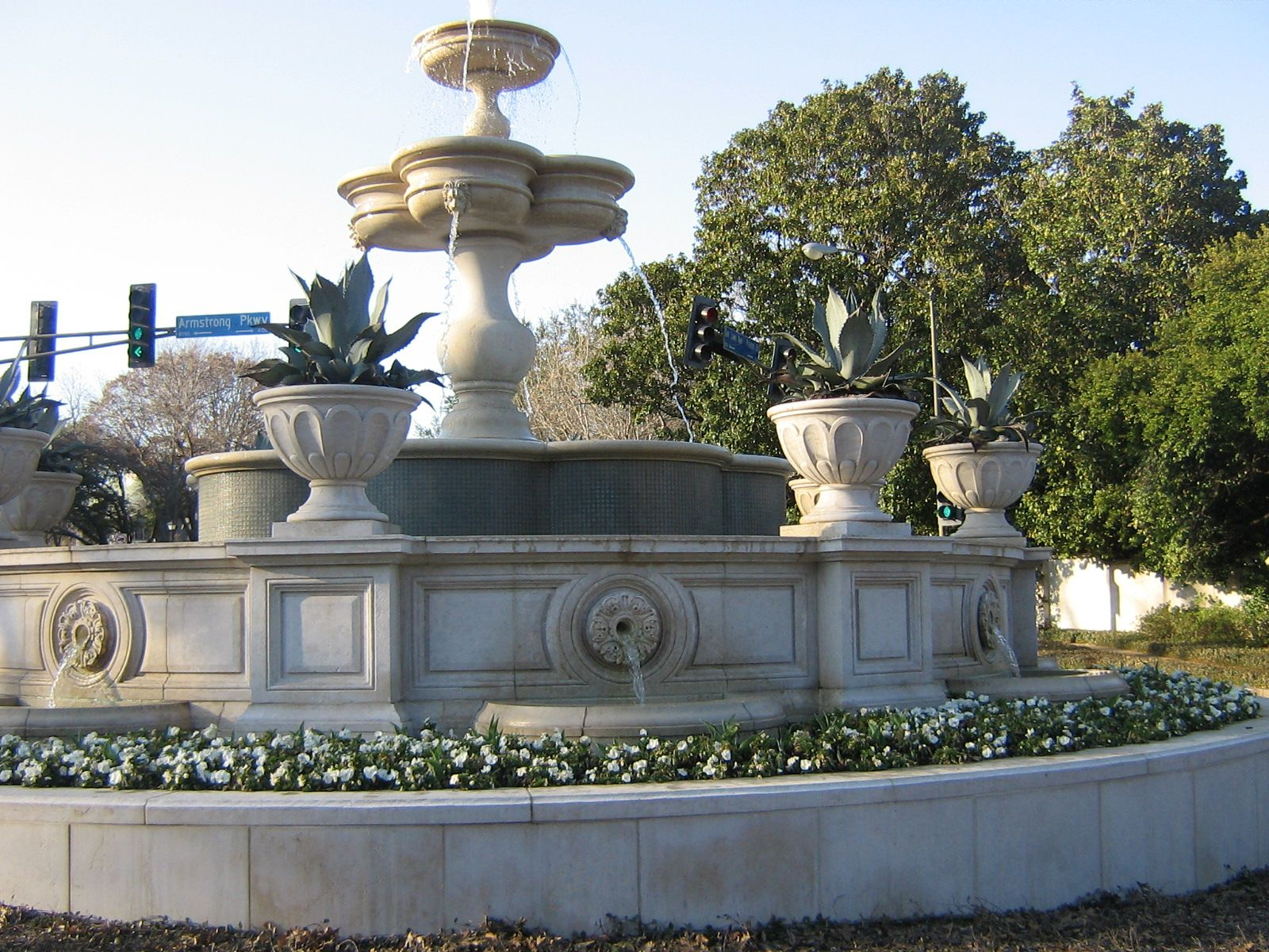 Water fountains dallas - Highland Park Fountain Preston Road At Armstrong Dallas Texas Installed In The