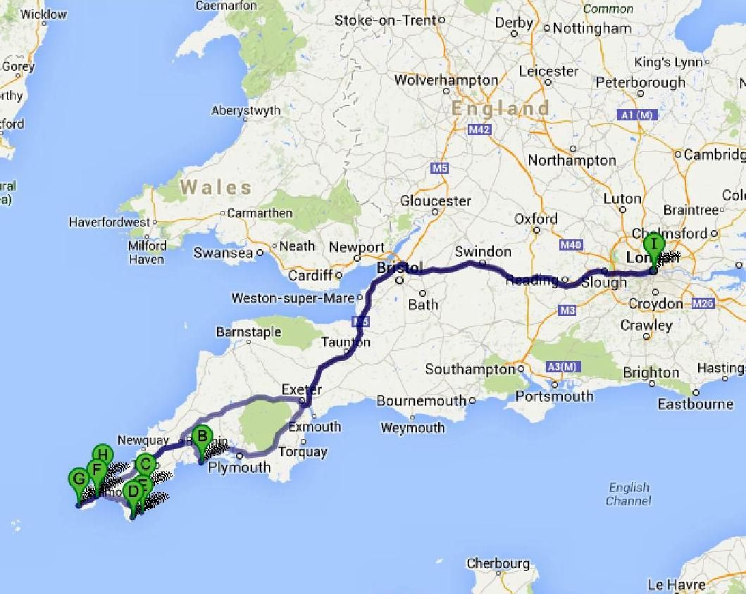 The Great English Road Trip London To Cornwall Bruised