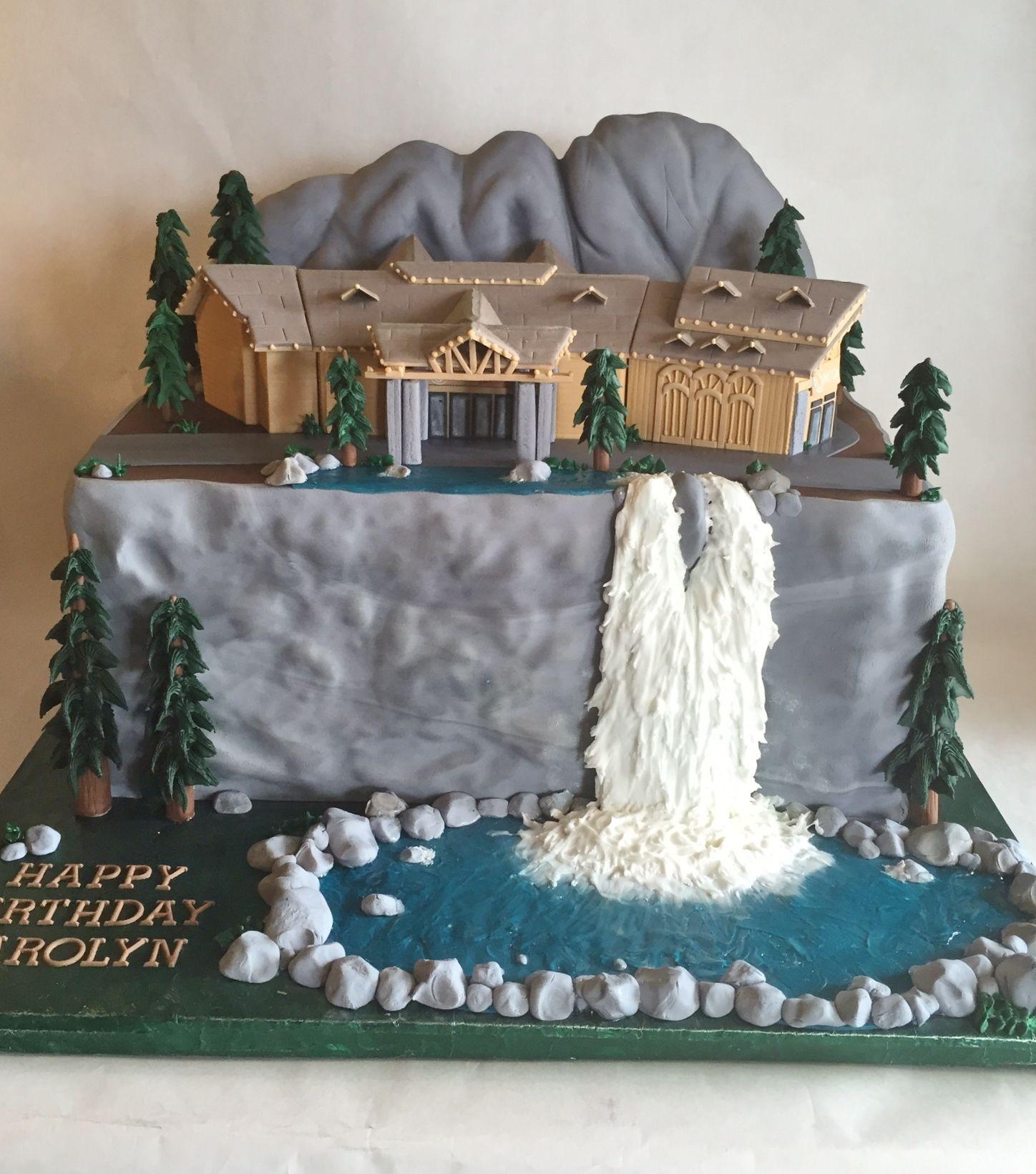 Custom Cake Birthday Cake Snoqualmie Casino Snoqualmie Falls