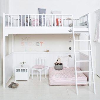 oliver furniture hochbett loft bett kids wei 90x200cm hhe 176cm - Oliver Furniture Hochbett