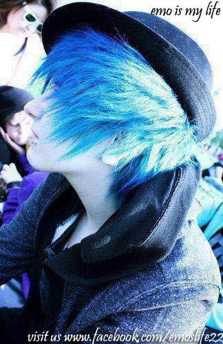 emolife-blue emo boy hair   Amazing styles in 2019   Emo ...
