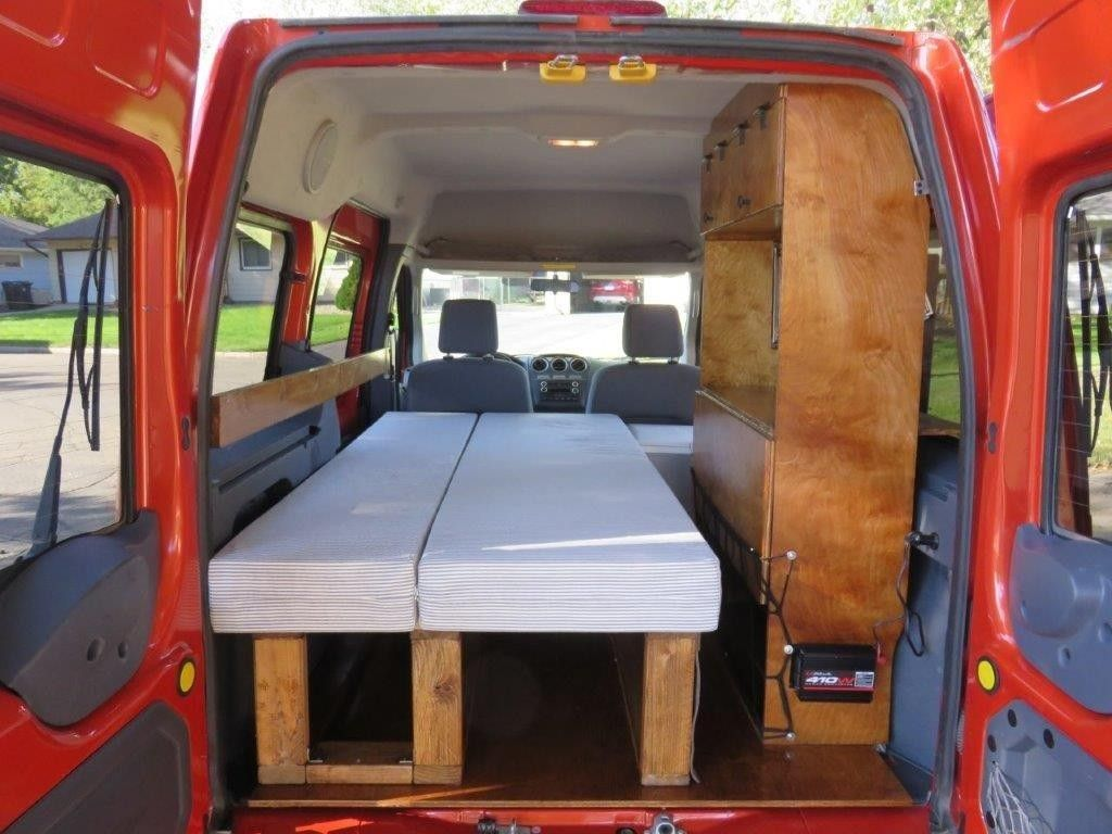 2002 2013 ford transit connect camper conversion ideas. Black Bedroom Furniture Sets. Home Design Ideas