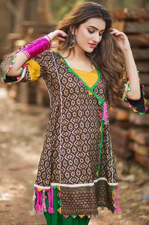 Angrakha style dress 2018 for women