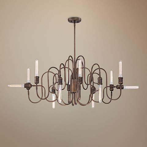 Eurofase briggs 48 wide oil rubbed bronze oval chandelier oil rubbed bronze chandeliers and urban industrial