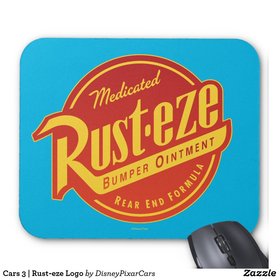 Color printing bu - Mouse Pad Cars 3 Rust Eze Logo Great Gift For The Movie Fan Dimensions 9 25 L X 7 75 W High Quality Full Color Printing Durable And Dust