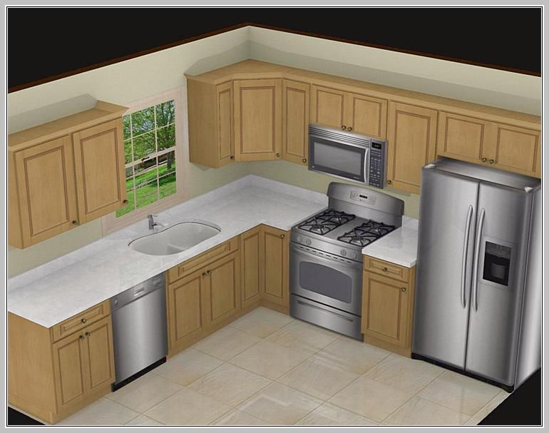 Charmant Awesome 10X10 Kitchen Designs With Island