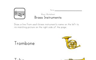 brass instruments worksheet | Music education | Music ...