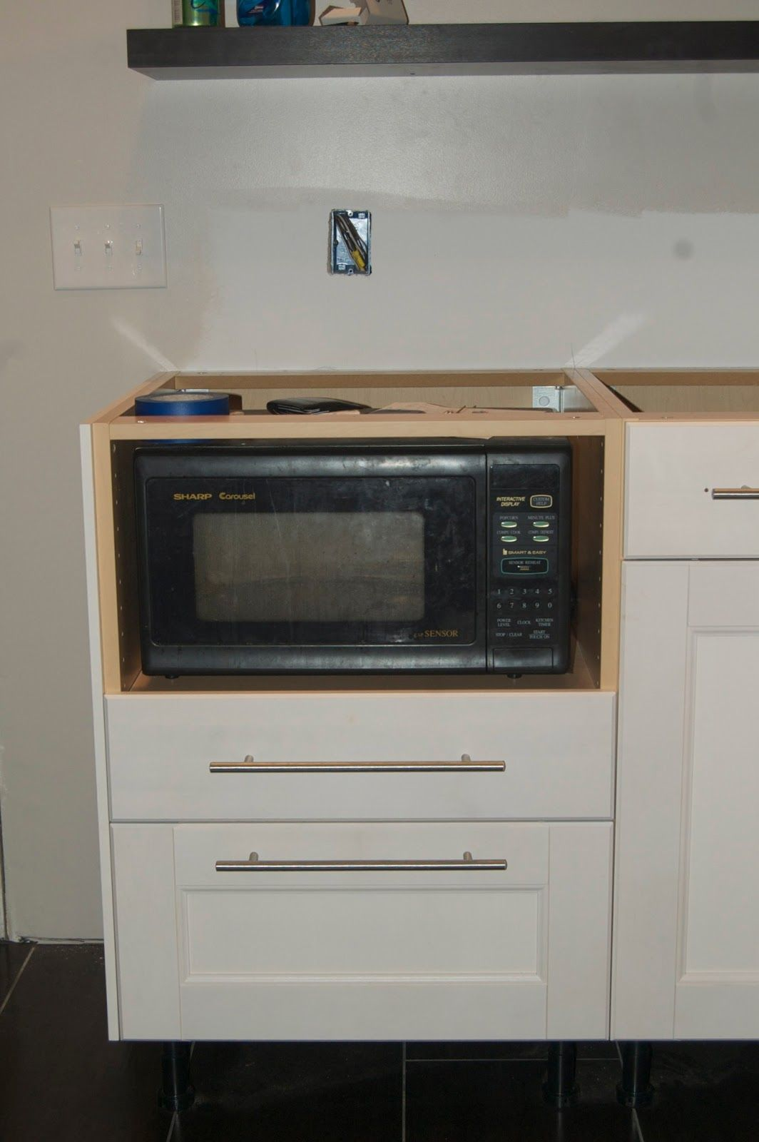 24 cabinet to fit microwave
