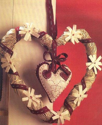 adornos colgantes para la puerta con decorativos con corazones