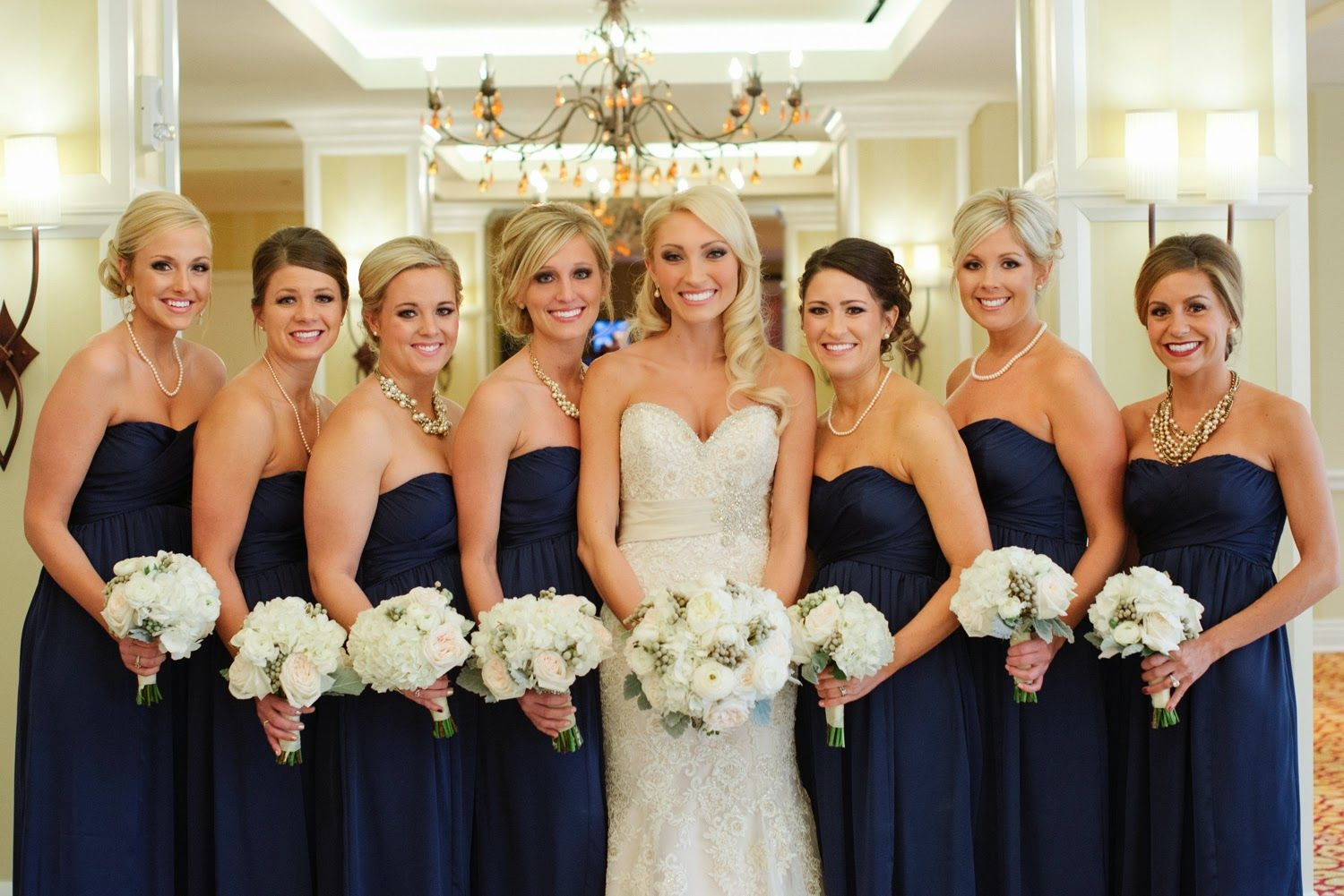 Sue lou events winter wedding elegance navy blue bridesmaid sue lou events winter wedding elegance navy blue bridesmaid dresses the skirvin ombrellifo Images