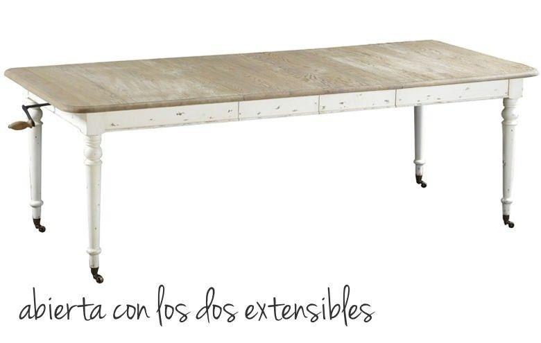 Mesa de comedor manila extensible decoracion cocinas y varios pinterest - Mesa comedor rustica extensible ...