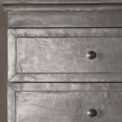 DIY Faux Zinc Nightstand {inspired by Restoration Hardware ...