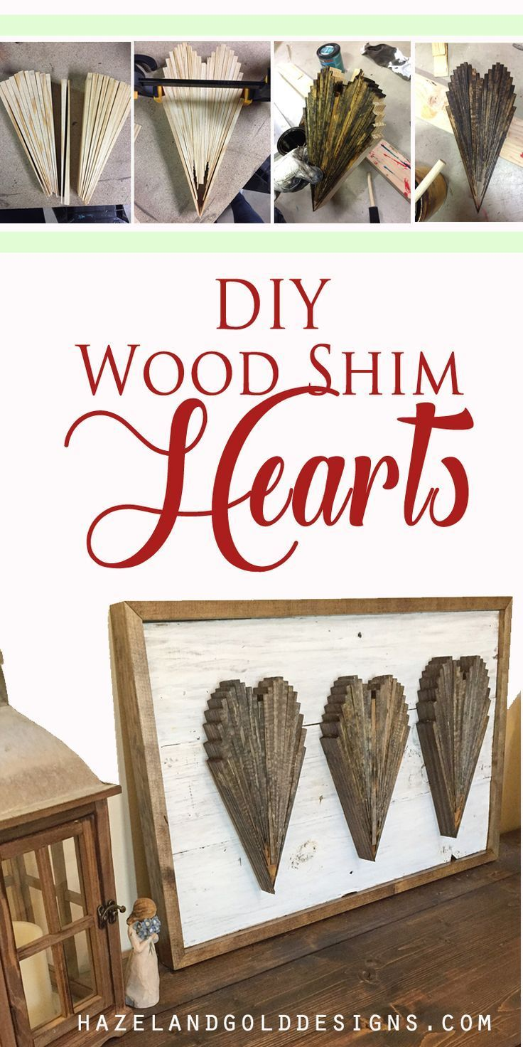 Wood shim hearts tutorial learn how to make hearts out of wood