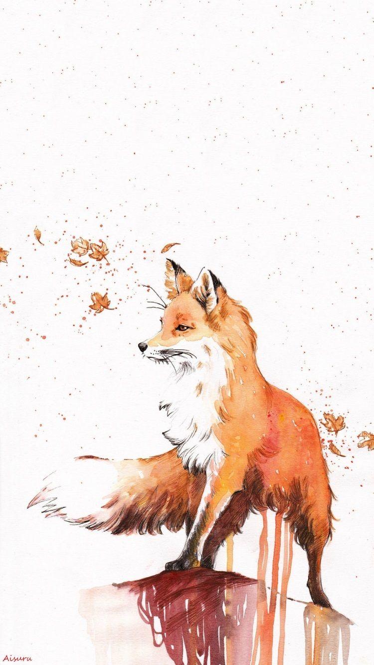 Fox Wallpaper IPhone my edition A.Aisuru Arte animal