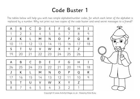 Code Buster For Spy Detective Theme Spy Week Secret