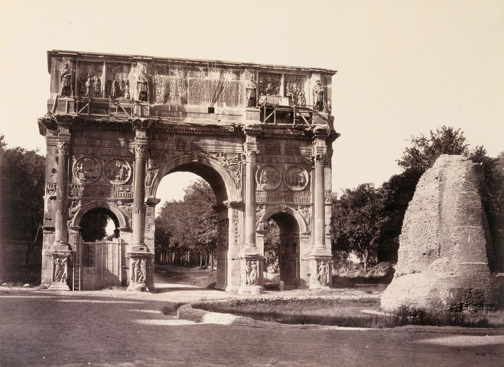 The Arch of Constantine, Rome,  1860,