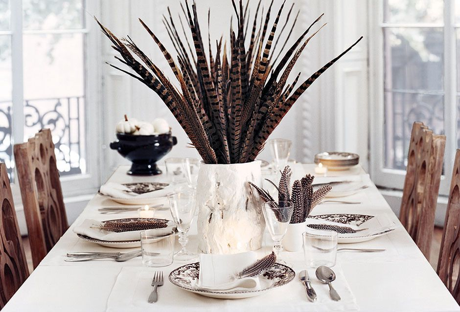 Three Festive Flower-free Thanksgiving Centerpieces {via Domino.com}
