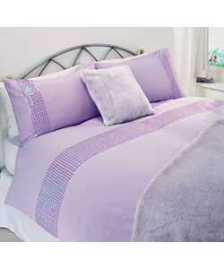Sparkle Sequin Bedding Double Duvet Cover Set - Lilac | Bedroom ... : lilac quilt cover - Adamdwight.com
