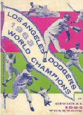 1964 Dodgers Yearbook Los Angeles Dodgers Dodgers Dodgers Baseball