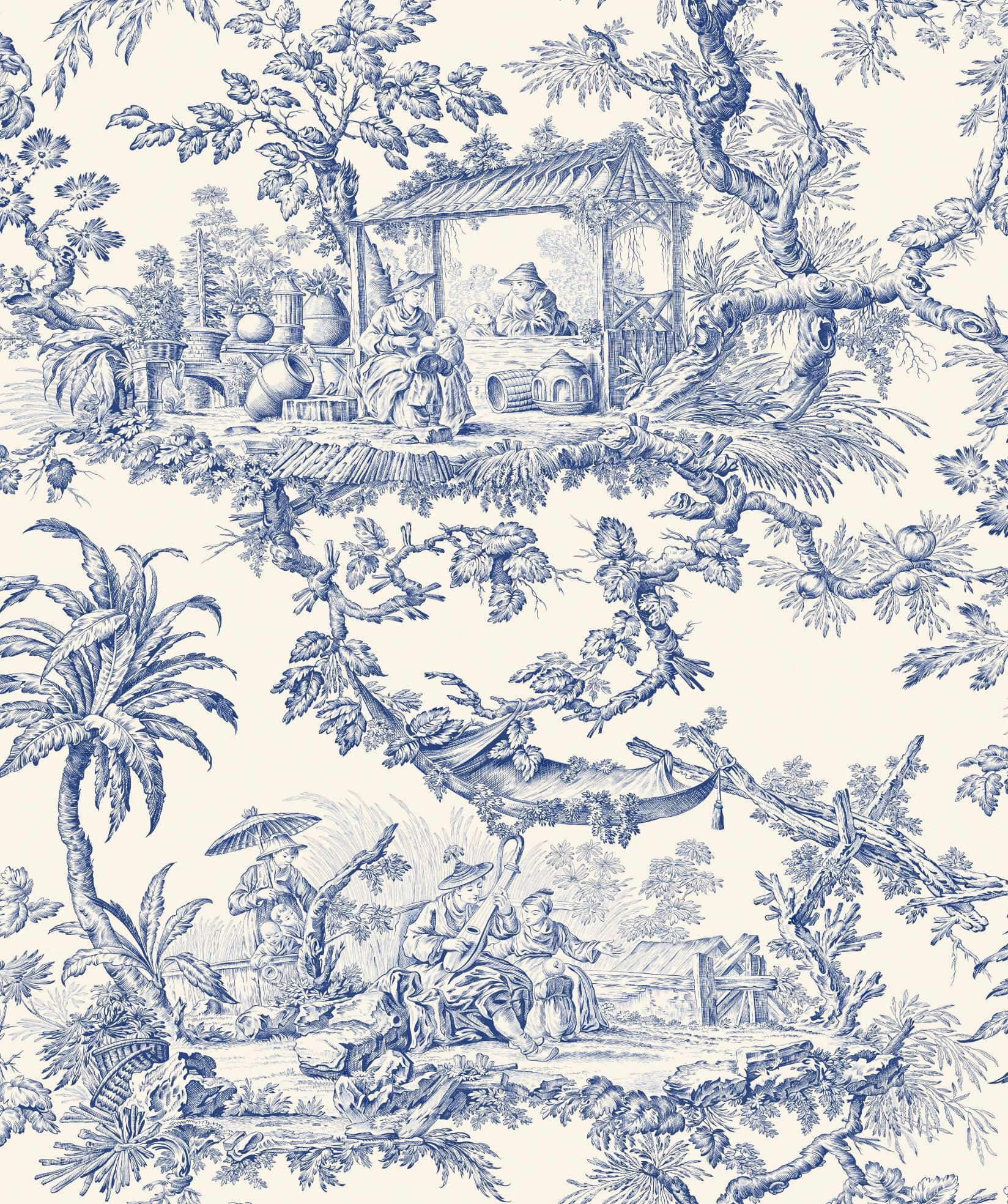 Toile De Jouy Beautiful Print Could Be Printed And Put Into Picture Frames