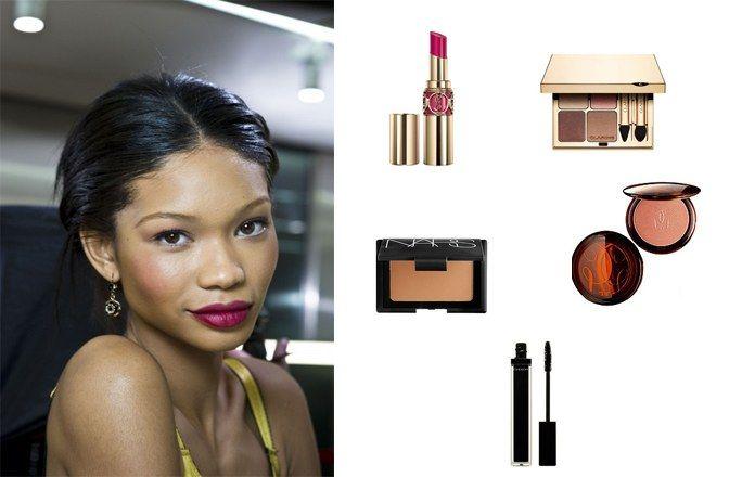 Maquillage glamour peau noire