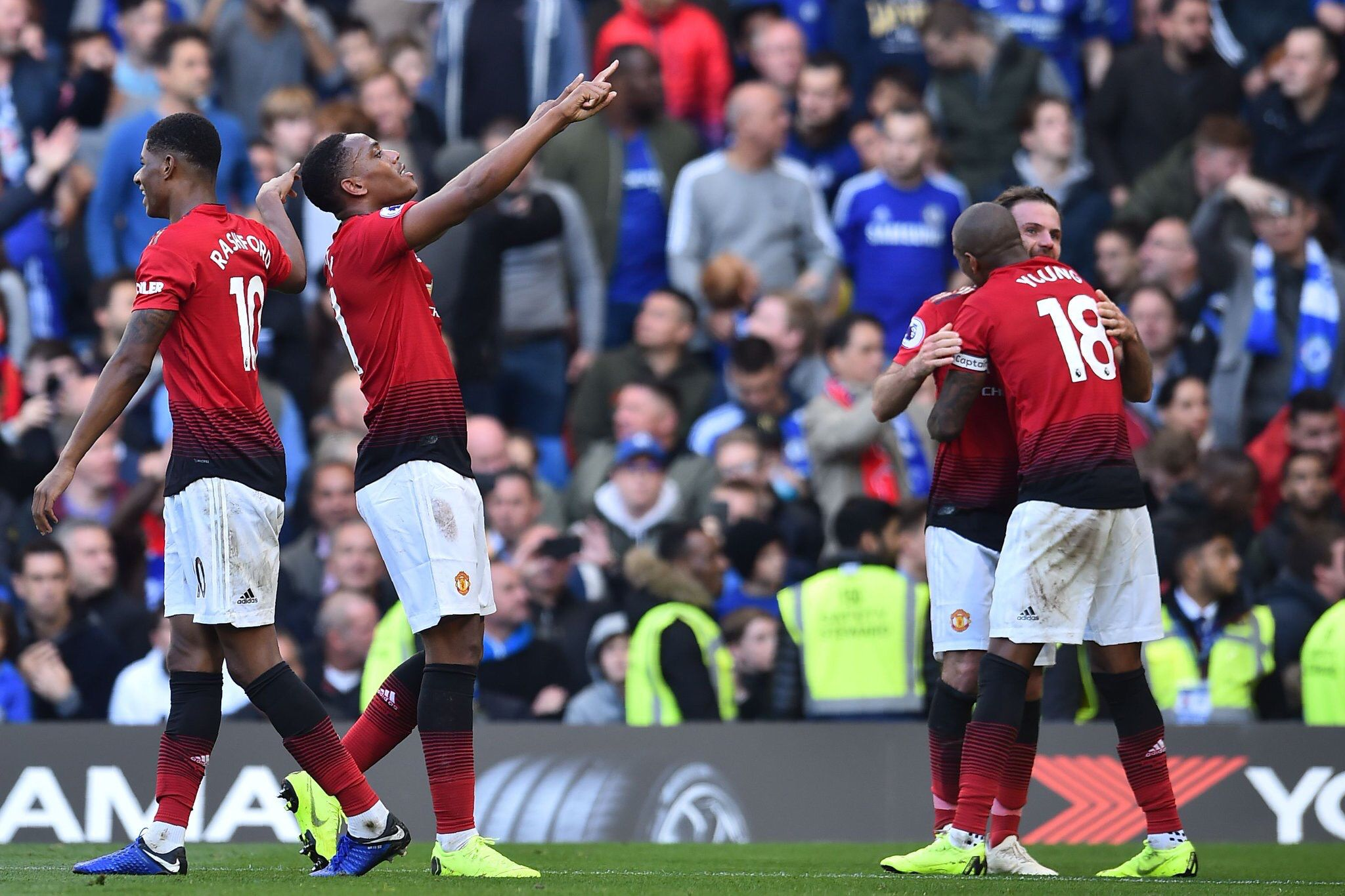 Martial's brace Manchester united, Manchester, Chelsea