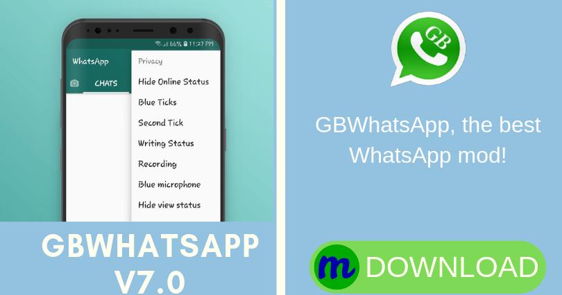 DONWLOAD GBWHATSAPP V7.0 Send text message, Auto reply