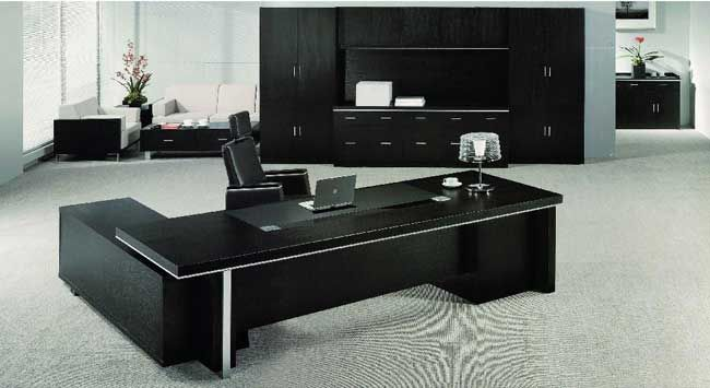 Echanting of Executive Office Desk Modern Luxury Black Office