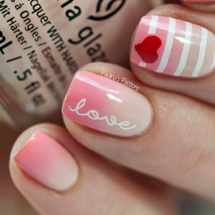 LoveNails with Heart - Valentine\'s Nail Art 2016 | Nails | Pinterest