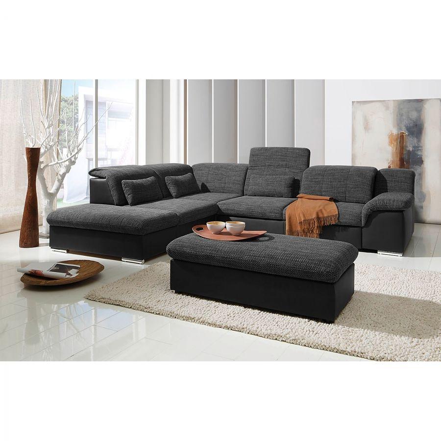 Kunst Leer Hoekbank Zwart.Hoekbank Mikano Met Slaapfunctie Home Decor Interior Couch