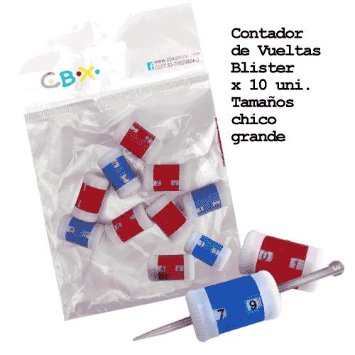 CUENTA VUELTAS CHICO X 10 UNIDADES