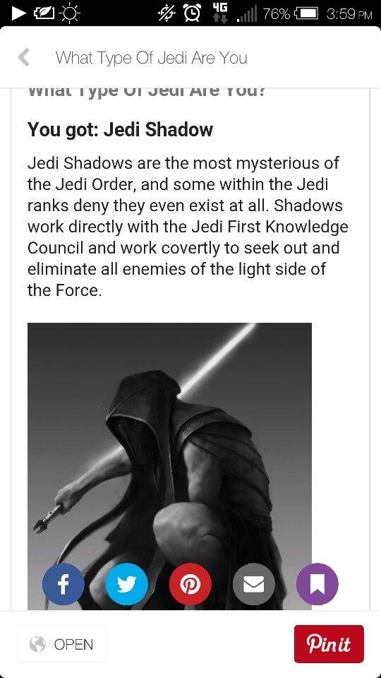 I got jedi shadow i agree to