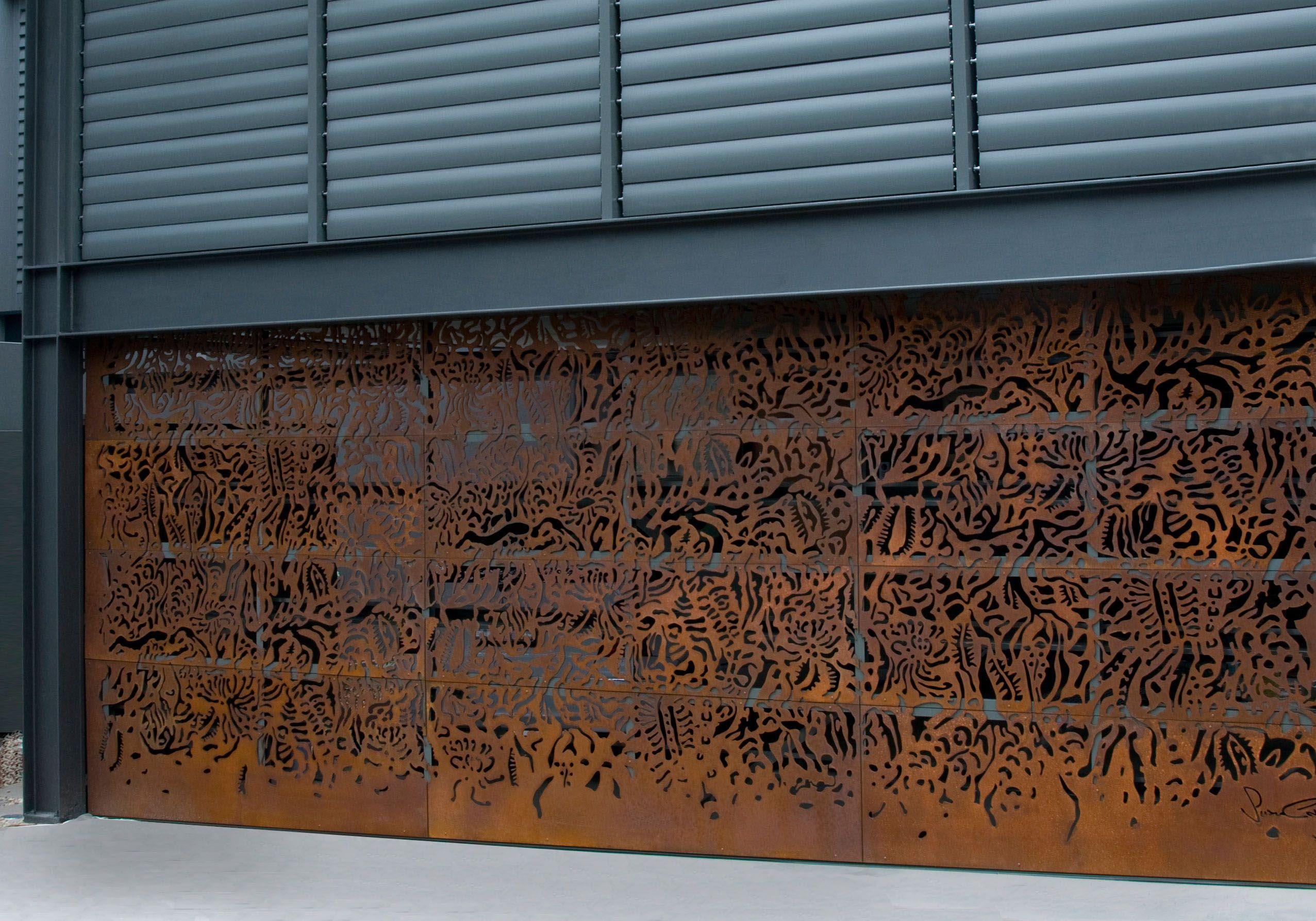 axolotl metal garage door rust router cut design susan designer garage doors from graham day doors