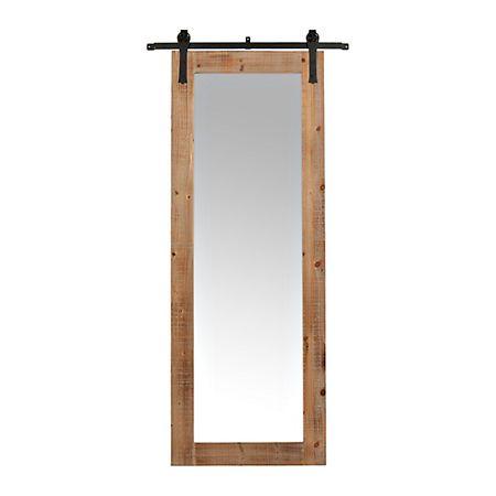 Faux Barn Door Rolling Wall Mirror Kirklands Door Mirror Diy Barn Door Interior Barn Doors