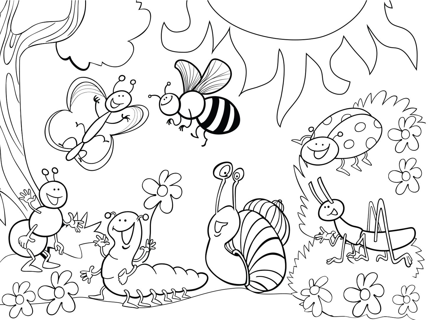 1114016 Garden Insect Coloring Page Jpg 1462 1083 Bug Coloring
