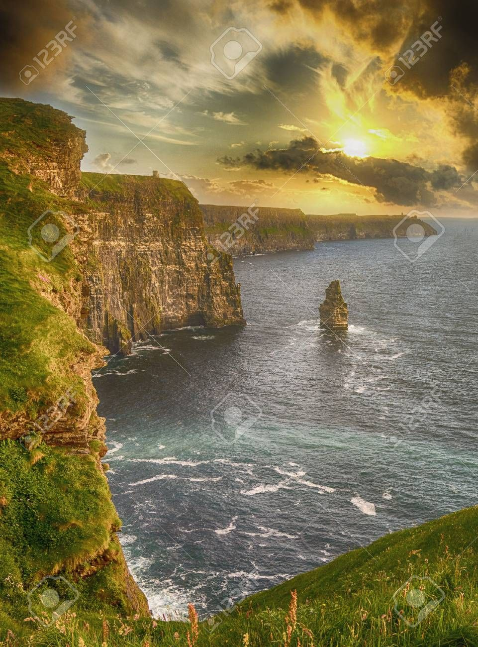 epic views from the cliffs of moher in county clare