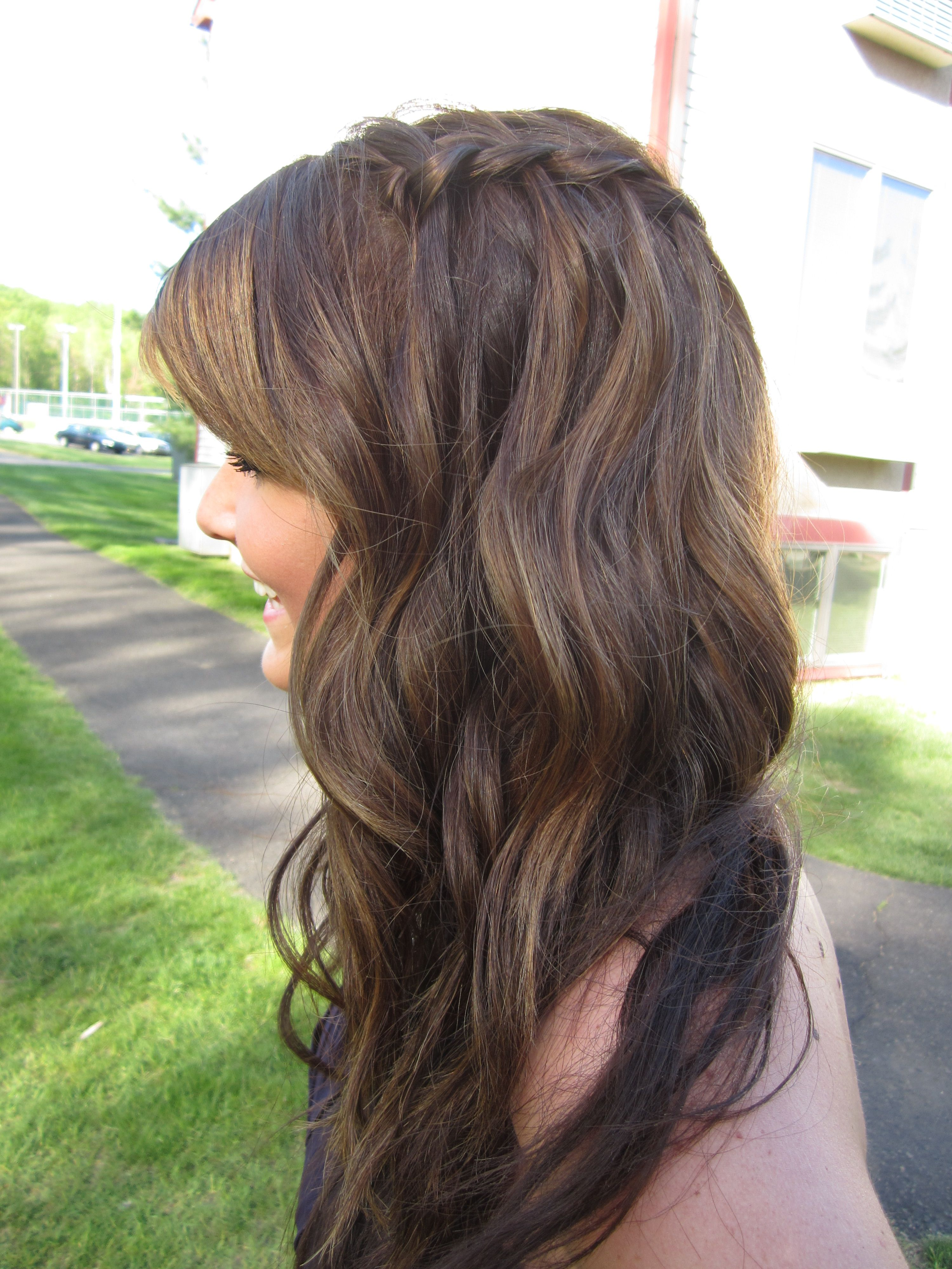 Waterfall braid started further back wedding ud pinterest