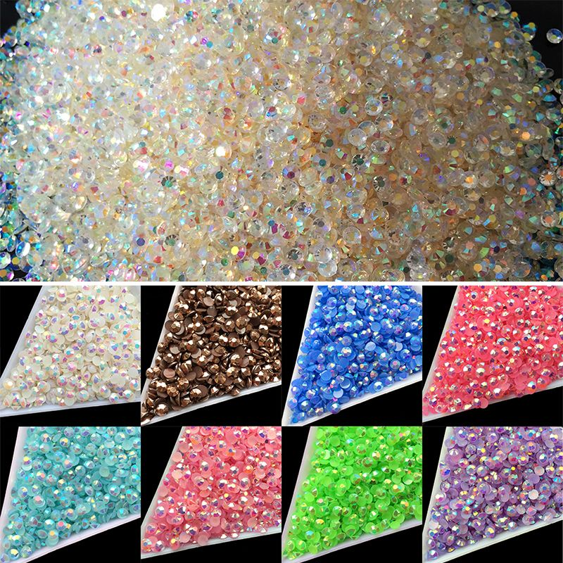 Wholesale 22 Colors Jelly Laser Crystal SS12 AB 3mm Flatback ...
